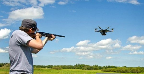 Drone Dropping replaces Skeet Shooting. Pilots who enjoy flight of airplanes will now enjoy shooting drones, which the FAA says is illegal.