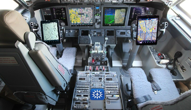 Boeing 737 Max 8 cockpit with iPads equipped with Foreflight, none of which has anything to do with the  737 crash in Ethiopia, Boeing says. Boeing is selling Foreflight following the 737 Max 8 crash.