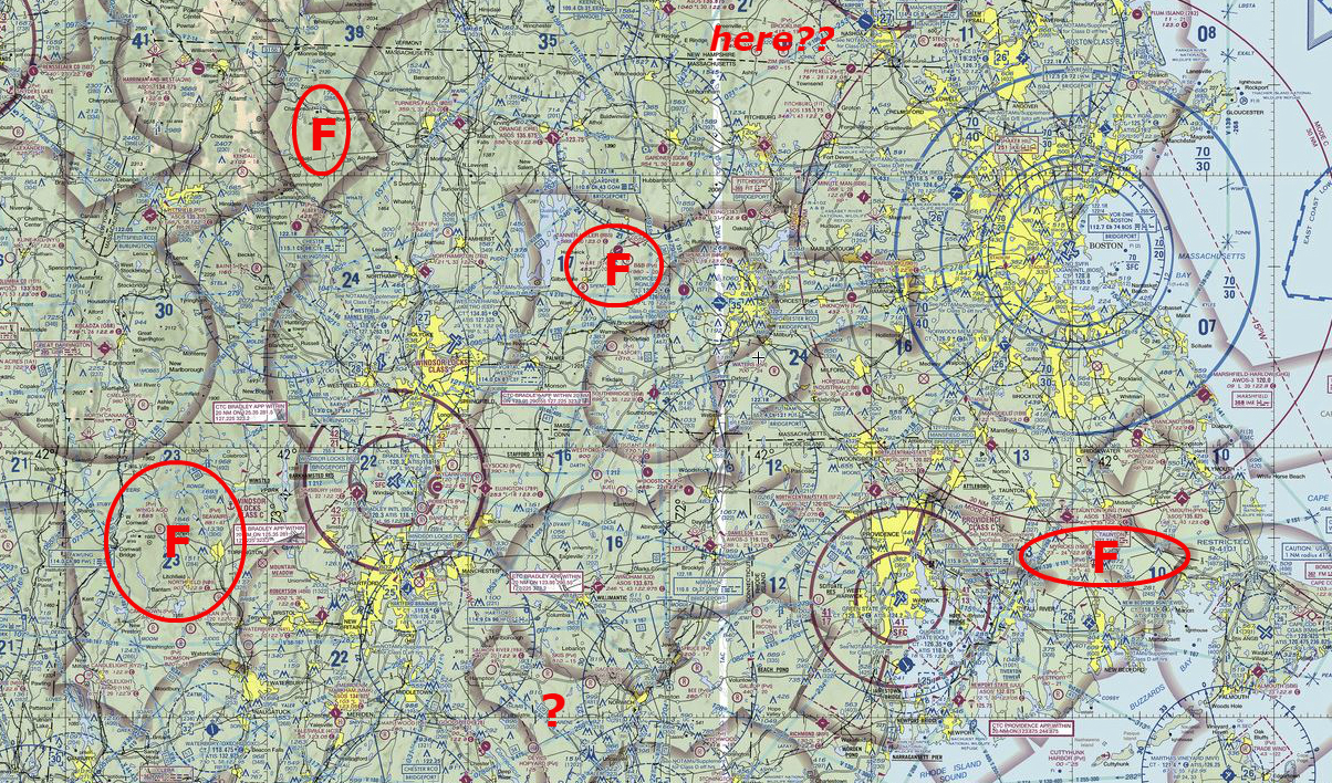 FAA airspace sectional chart used by pilots to determine airspace locations on VFR sectional charts