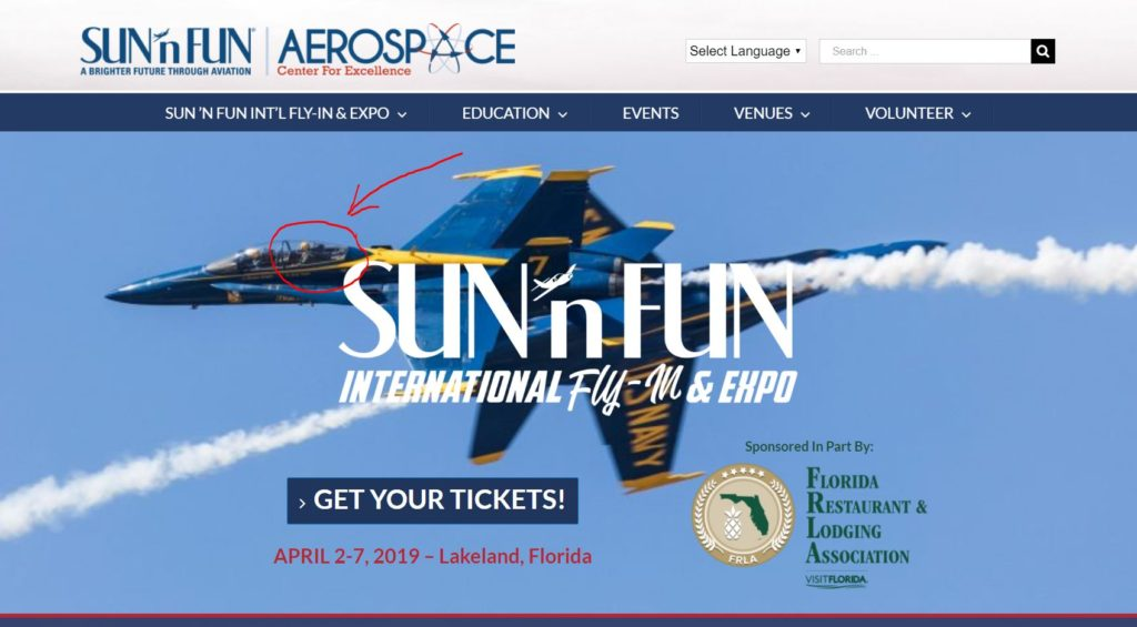 SUN 'n FUN Opens Today: Blue Angels Back Seat Ride Tickets ...